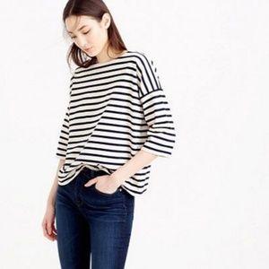 J.crew Oversized drop-sleeve striped T-shirt (M/L)